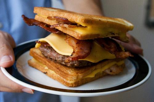 insanity the the bacon hamburger fatty melt