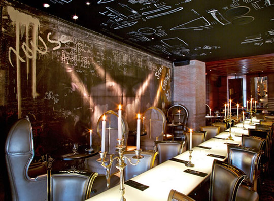 Philippe starck interior design for ramses restaurant in for Philippe starck interior designs