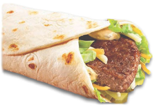 photograph of McDonald's Mac Snack Wrap