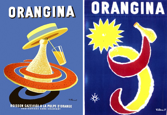orangina posters by bernard villemot eat me daily. Black Bedroom Furniture Sets. Home Design Ideas