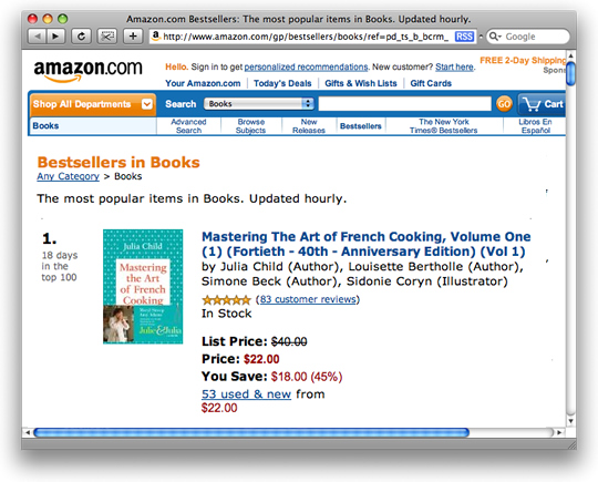 julia-child-best-seller