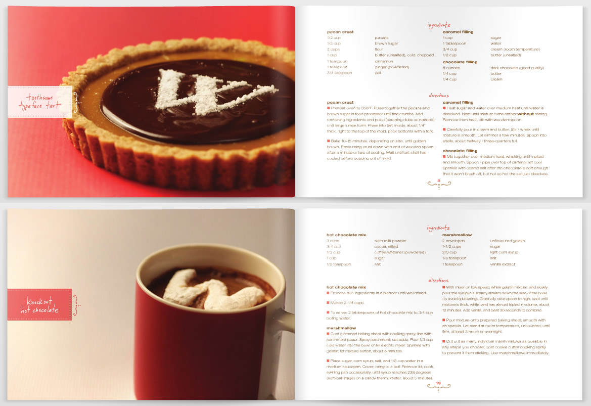Sweet Treats: A Typographical Cookbook – Eat Me Daily