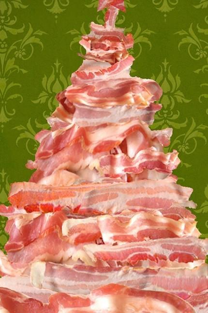bacon christmas tree postcards  u2013 eat me daily
