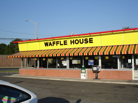 Waffle House, Inc. is an American restaurant chain with 2, locations in 25 states in the United States. Most of the locations are in the South, where the chain is a regional cultural icon. Waffle House is headquartered in an unincorporated part of Gwinnett County, Georgia, near Norcross.