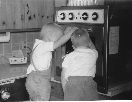 first microwave oven